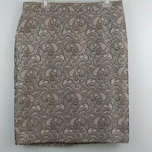 Ann Taylor sz12 textured iridescent pencil skirt